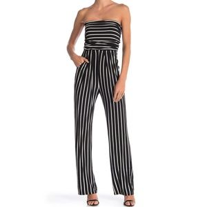 Pink Owl Striped Strapless Jumpsuit